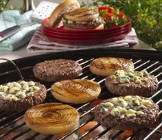 Grilled Onion Cheeseburgers -- Classic restaurant favorite, customizable with your choice of cheese.