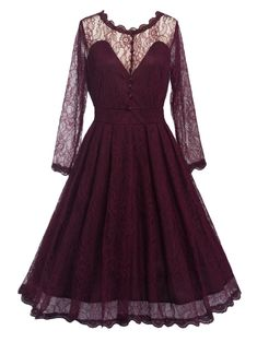 $16.90 for Long Sleeve Vintage Lace Dress