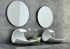 eleganta handfat och badkar- plus en kul idé med lila kvarts - Sköna hem