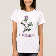 Flower of Scotland Thistle T-Shirt - click/tap to personalize and buy