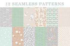 Check out Birds of a Feather - Patterns by https://twitter.com/shhmakerdesign on Creative Market