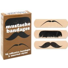 If you can't grow one of your own, wear one of these #mustache bandages to our bashio!
