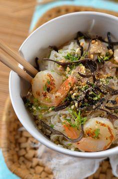 Salade de vermicelle et porc façon Thaï - Tangerine Zest