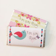 FREE printable chocolate bar wrappers for mother's day | Tiges and Weince - Kylie Loy