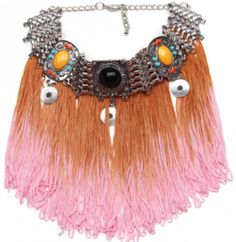 Shop our unique, selective range of necklaces and complete any outfit. From statement bohemian bibs to simple classic chokers, browse our vibrant collection as Bohemian Necklace, Tassel Necklace, Statement Necklaces, Valentine Gifts, Boho Chic, Tassels, Chokers, Fancy, Festival Jewellery