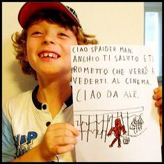 """Alessandro ringrazia Spideruccio con tanto affetto! #igersitalia_swspidermantour #amazingspiderman #screenweek cc @alefortuna @igerspiceni @ilarysgrill"""""""