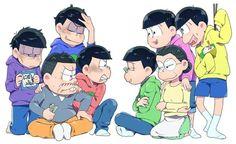 Osomatsu-san The Matsu Dark Anime Guys, All Anime, Anime Art, Kawaii Anime, Onii San, Osomatsu San Doujinshi, Sailor Moon Wallpaper, Ichimatsu, Digimon