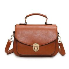 32b99f44e1 Brown Vintage Saddle Bag Woman Handbag PU Leather Purses Handbags Women  Messenger Bags Small Crossbody Shoulder Bag Bolsos 2016