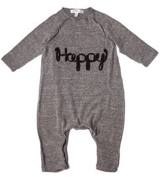 Baby 'Happy' Playsuit // Made in USA