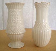 Perfect little Lenox vases. Seen on Etsy: http://etsy.com/shop/catlady531?ref=seller_info