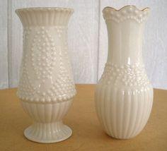 Vintage Lenox Vases | vintage lenox vase 80s ivory candlewicking pattern bud vase 2 gold ...