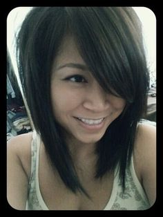My husband loves side swept bangs on me...maybe i will do this instead.