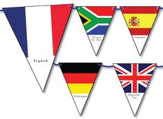Ideas For School - Classroom Environment - Flags of the World Bunting School Themes, Classroom Themes, School Classroom, Around The World In 80 Days, Flags Of The World, European Day Of Languages, Harmony Day, Banner, World Geography
