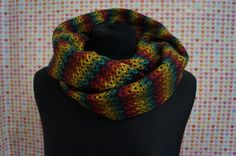 Winter scarf snood colourful handmade. Order by message.