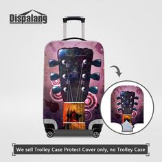 Dispalang Guitar Music Elastic Stretch Luggage Protective Covers For 18-30 Inch Travel Trolley Case Thick Dust Suitcase Cover