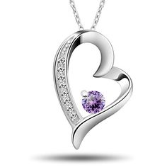 MOTHER'S DAY 40% OFF NOW!!! Enter 8WPUEHE2 at checkout.  T400 Jewelers Gold Plated Silver Heart Pendant Necklace (...