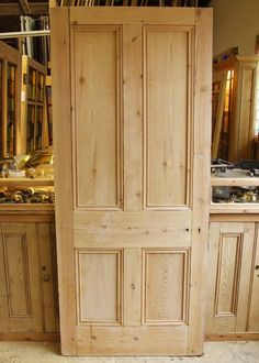 Reclaimed Pine Victorian Internal Door - good source for doors The Effective Pictures We Offer You About dark wooden doors A quality picture can tell you many things. You can find the most beautiful p Victorian Internal Doors, Solid Oak Internal Doors, Victorian Front Doors, Pine Doors, Entry Doors, Wood Doors, Sliding Doors, Interior Door Colors, Interior Closet Doors