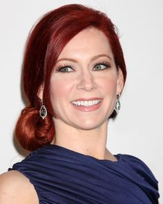 Carrie Preston beautiful makeup with red hair.