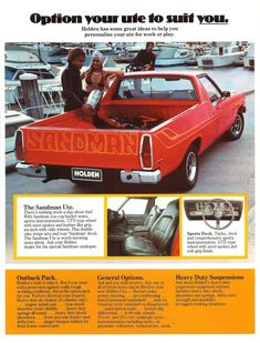 Holden Sandman: The Aussies Blow Away The Pinto Cruising Wagon Holden Australia, Australian Cars, Car Brochure, Weird Cars, Sports Sedan, Car Posters, Old Trucks, Pickup Trucks, Buick