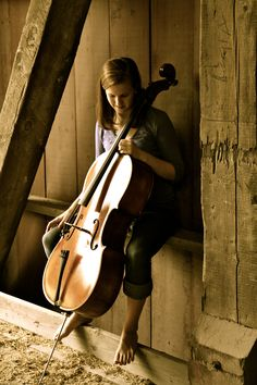 Senior Pics at the Covered Bridge with Oliver (the cello) :)