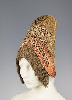 Headdress, fourth quarter 18th century, Russian.