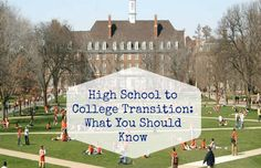 High School to College Transition: What You Should Know Transitioning from high school to college is a big deal. You're moving away from home, forced to make new friends, and have to decide what you want to do for the rest of your life. That's a lot to think about! Luckily, there are multiple ways to make this transition easier. If you are doing a ...  Read More at http://www.chelseacrockett.com/wp/lifestyle/high-school-to-college-transition-what-you-should-know/