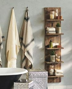 cute idea for shelving/bathroom storage