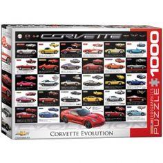"""Corvette Evolution"" Jigsaw Puzzle - PZ-010P-corvette memorabilia"