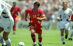 Sweden 2 Romania 2 (5-4 pens) in 1994 in San Francisco. Gheorghe Hagi was a constant threat to Sweden in the World Cup Quarter Final.