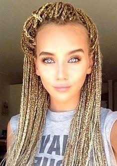 Awesome Box Braids Hairstyles: Blonde Box Braids