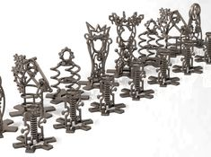 STEAMPUNK chess set - all the pieces by on Shapeways. Learn more before you buy, or discover other cool products in Desk Toys. 3d Chess, Desk Toys, Set Cookie, 3d Printing, Steampunk, Bronze, Ceiling Lights, Printed, Impression 3d