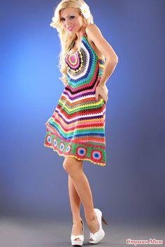 vestido fácil em crochê
