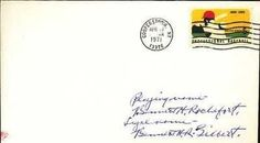 BENNETT ROCHEFORT HAND SIGNED 1971 FDC JSA COA 1941 A's . $50.00. BENNETT ROCHEFORT HAND SIGNED 1971 ENVELOPE~JSA COA~1914 PHILADELPHIA ATHLETICS Photo Description OLD-TIMER BENNETT ROCHEFORT (GILBERT), OF THE 1914 PHILADELPHIA ATHLETICS HAND SIGNED ENVELOPE, WITH PROFESSIONAL BASEBALL CENTENNIAL STAMP (1869-1969), POSTMARKED COOPERSTOWN, NY ON APRIL 17, 1971. SIGNATURE IS AUTHENTICATED BY JAMES SPENCE AUTHENTICATION (JSA). CERTIFICATE OF AUTHENTICITY (COA) INCLUDED TO M...