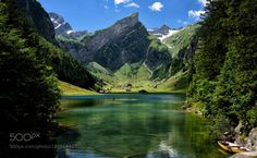 best photo by xaverrohner  Landscape Lake Switzerland Mountains Swiss Alps Schweiz Europa Appenzell Refelection Seealpsee Alpst