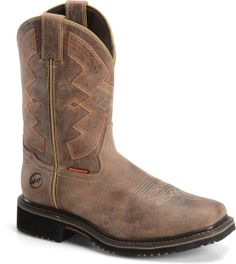 """Double H Boot Men's 13"""" Wide Square Toe Work Western Men's 13"""" Wide Square Toe Work Western"""