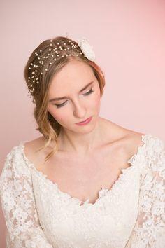 Bridal Hair. Accessory. Wedding Hair Halo.