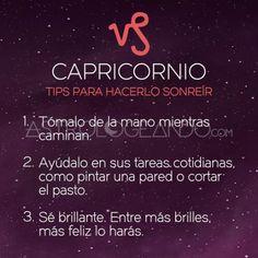 CAPRICORNIO: TIPS PARA HACERLO SONREÍR