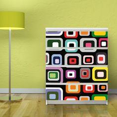 Motivsticker banjado für IKEA MALM Kommode 80x100 cm mit Motiv: Retro: Amazon.de: Küche & Haushalt