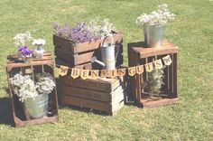 decoracion con cajas de madera, cajas de fruta