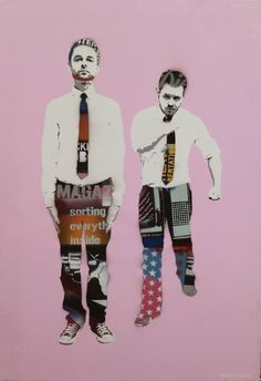 "Saatchi Art Artist Adrian and Shane; Painting, ""MARCH -Pink"" #art"