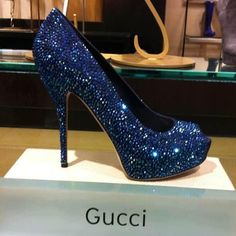 Blue Gucci Shoe