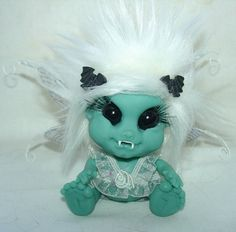 """Little Vampire Fairy monster  looking for a loving home """"Starla"""" Polymer Clay One of a Kind. $49.00, via Etsy."""