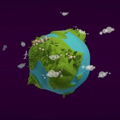 Cartoon low poly earth, modeled in Cinema the rotation is animated. Rendered by physical sky render. Including PSD file with backgrounds and postproduction presets. Low Poly Games, Low Poly 3d Models, Blender 3d, Cinema 4d, Planets, Animation, Earth, Sky, Fantasy