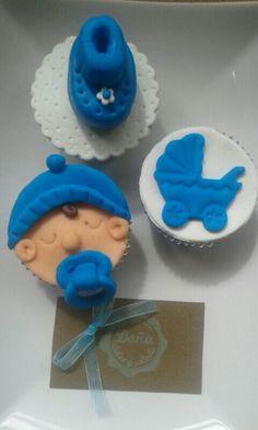 Cupcakes fondant. Cupcakes babyshower.