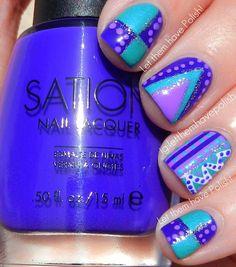blue & purple.