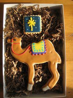 nativity camel by sugarlily cookie, via Flickr