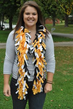 Steelers fleece boa scarf...need to make this!