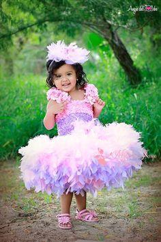 Pretty In Pink Ballerina Girls Feather от MelissaJaneBoutique, $136.00