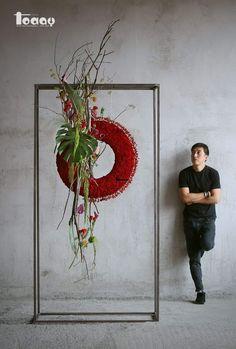 Pin by Meetgamgam on Floral arrangement Deco Floral, Arte Floral, Flower Show, Flower Art, Contemporary Flower Arrangements, Modern Floral Design, Fleur Design, Ikebana Arrangements, Corporate Flowers