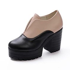 Women's Chunky Heel Platform Booties/Ankle Boots (More Colors)  – USD $ 37.99